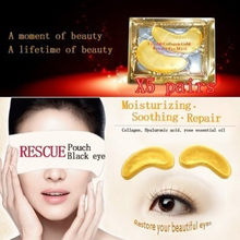 10pcs=5pack Anti-Aging Gold Crystal Collagen Skin Care Eye Patches Crystal Beauty Anti Dark Circle Anti-Puffiness Cream(China)