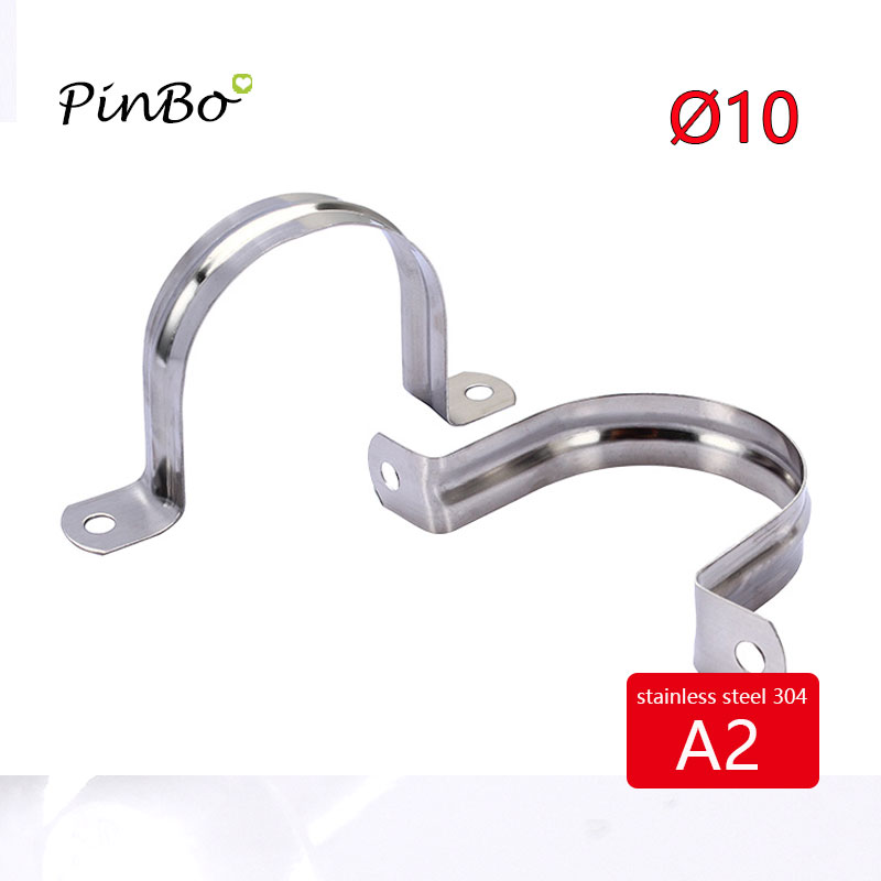 US $0 24 |5pcs Dia 10mm 304 Stainless Steel U Shaped pipe Saddle cilp Clamp  Pipe Straps Stormwater PVC Downpipe-in Clamps from Home Improvement on