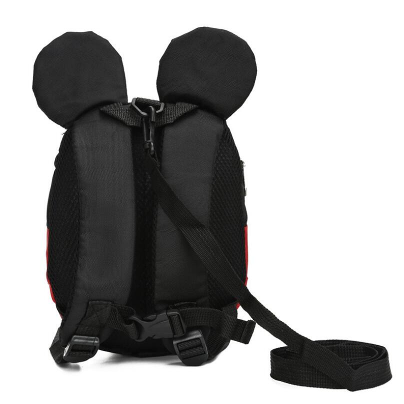 Cartoon Minnie Mickey Children Backpacks Kids kindergarten Anti-lost Backpack Baby School Bags Satchel for Boys and Girls 2