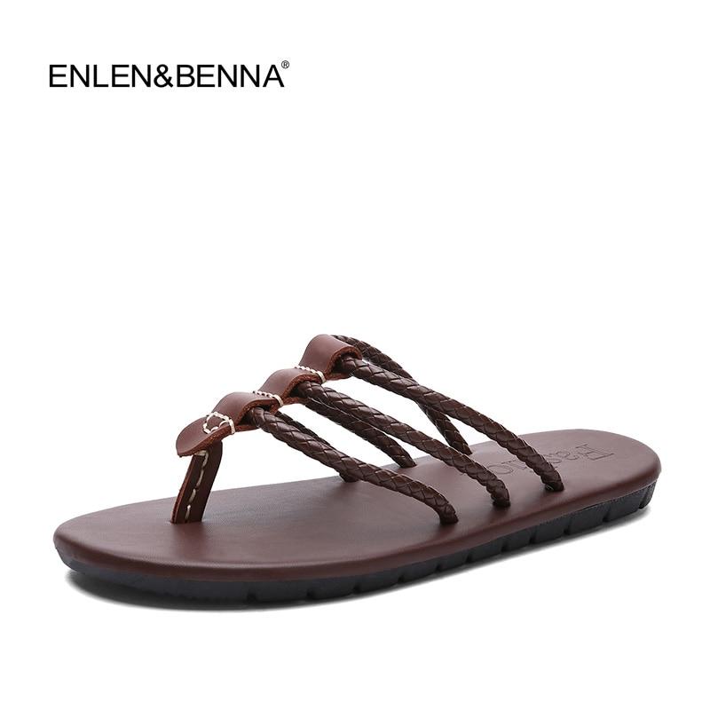 5f504b694d2eb1 2017 New Arrival Summer Cool Men Flip Flops British Style Boardered Beach  Sandals Non-slide