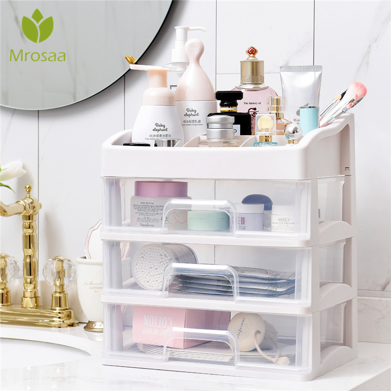 Container Casket-Holder Storage-Case Makeup-Organizer Drawer Plastic Cosmetic Desktop