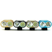 UniqueFire Led Headlamp Headlight 2*Cree XM-L2 4 Modes 3000LM Led bicycle light + Waterproof 4*18650 battery Pack + Charger