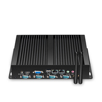 XCY מחשב מיני Fanless Intel Celeron כפול ליבה N2830 X26G IPC יציאות Ethernet הכפול 1000 M LAN RS232 COM סידורי 4x Windows לינוקס