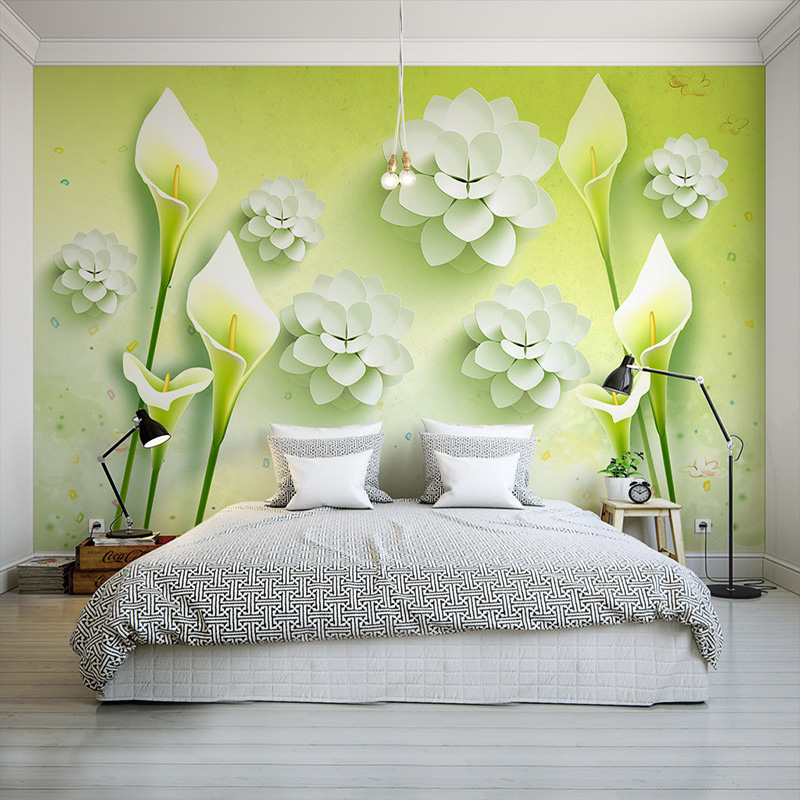 Custom 3d mural wallpaper modern minimalist art fresh for Designer mural wallpaper