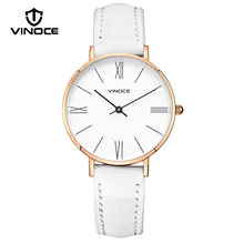 b86ad8d717e5 VINOCE mujeres de la marca de lujo de moda reloj de cuarzo correa de cuero  relojes