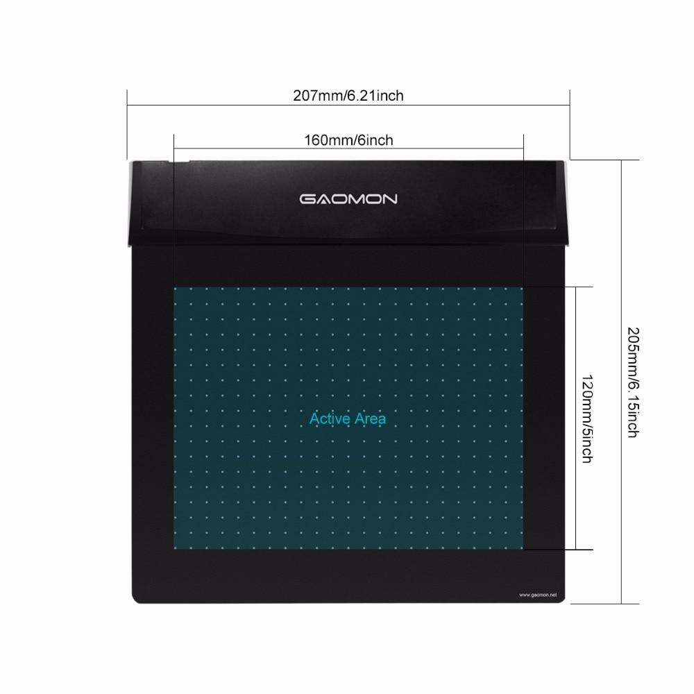 Brand New GAOMON S56K Black Graphic Pen Tablet Diseño flexible - Periféricos de la computadora - foto 4
