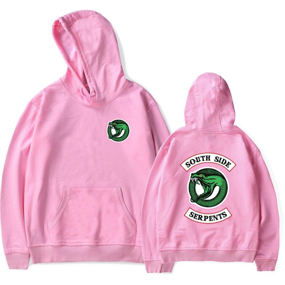 Luckyfridayf Riverdale Cotton Oversized Hoodie Sweatshirt South Side Serpents Tv Drama Men/women  Streetwear  Casual Jacket Coat #5