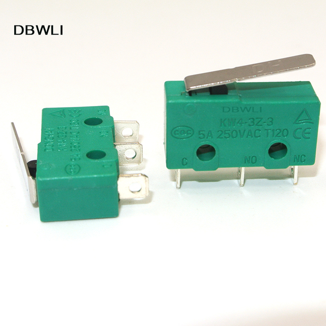 10PCS AC 125V 5 Amp SPDT 1NO 1NC Short Straight Hinge Lever Mini Micro Switch