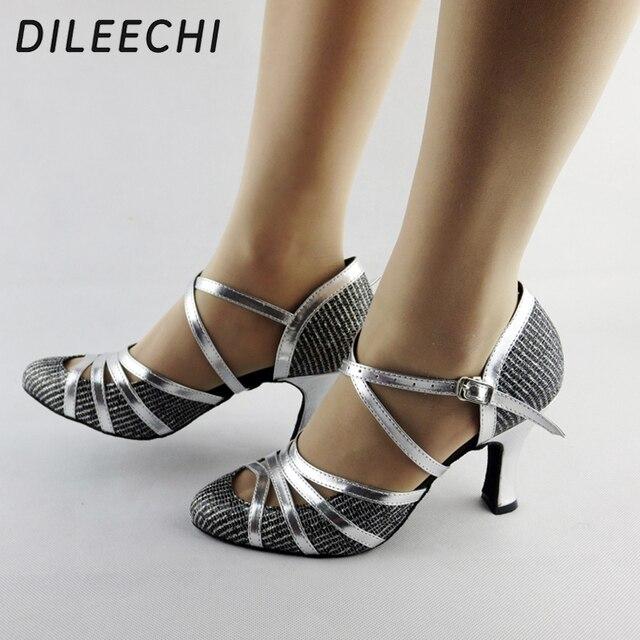 0557b107 DILEECHI invierno y otoño calidad perla Red Latino zapatos de baile  modernos zapatos de baile de