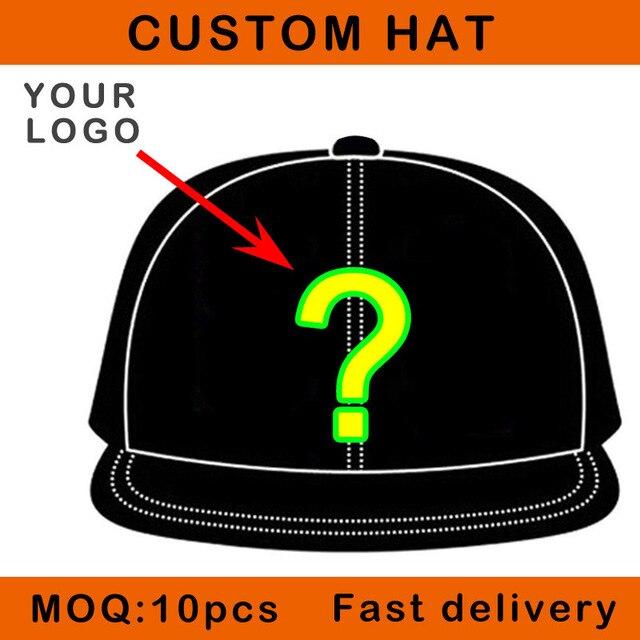 Customer DIY hat black color cotton hip hop snapback sun visor OEM cap sizable mesh customer embroidery logo hat