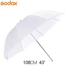 Godox 43 بوصة/108 سنتيمتر المحمولة الأبيض فلاش الناشر لينة عاكس الصورة مصباح مظلة مظلة صورة ل ملحقات ستوديو الصور