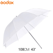 Godox 43inch/108cm Portable White Flash Diffuser Soft Reflector Photo Umbrella Light Photo Umbrella For Photo Studio Accessories