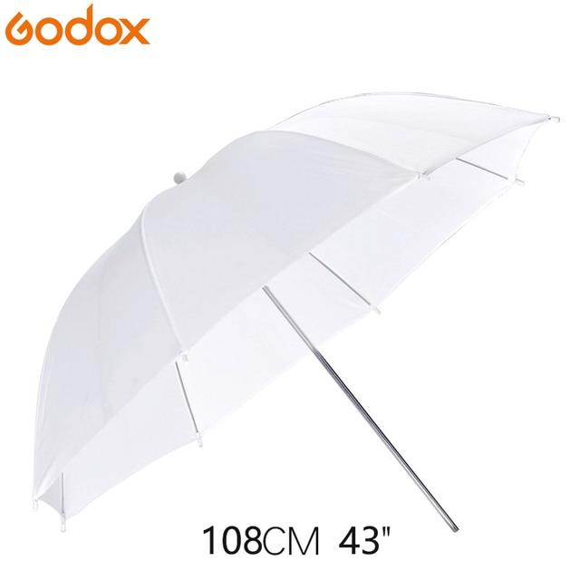 Godox 43inch/108cm Portable White Flash Diffuser Soft Reflector Photo Umbrella Light Photo Umbrella For Photo Studio Accessories