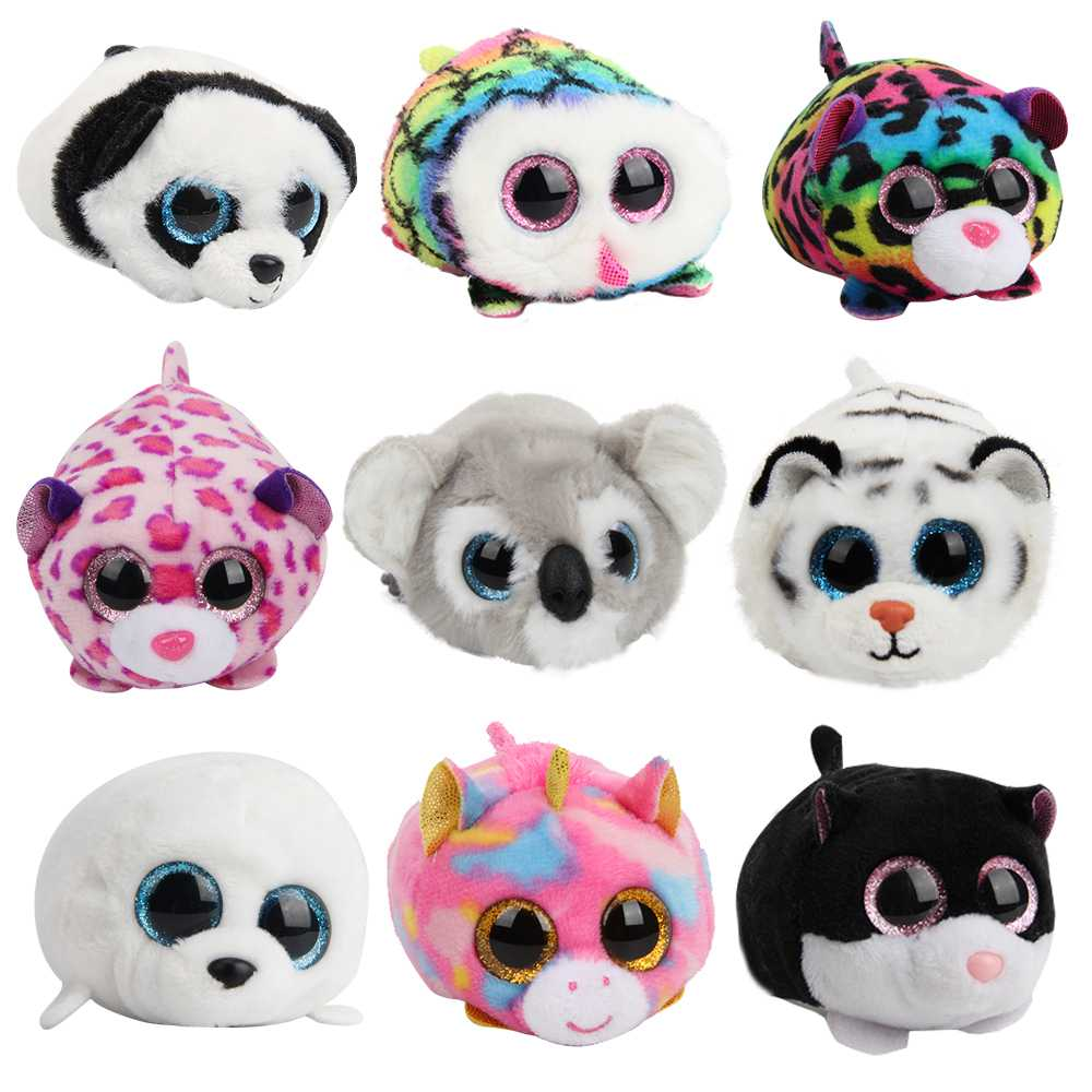 50e2cfece38 Mini 10cm Ty Beanie Boos Big Eyes Unicorn Soft Plush Doll Kids Toys owl  leopard Koala