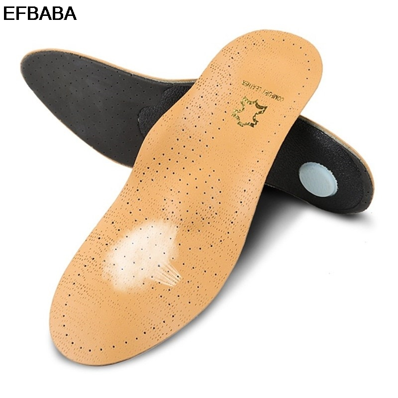 EFBABA Orthopedic Insoles Leather Shoe Insole Arch Support Breathable Damping Sports Insoles Orthopedic Shoes Pad Accessoires sports insloes women shock absorban insoles for shoes soft shoes pad orthopedic pad for running sporting foot pain shoe insole