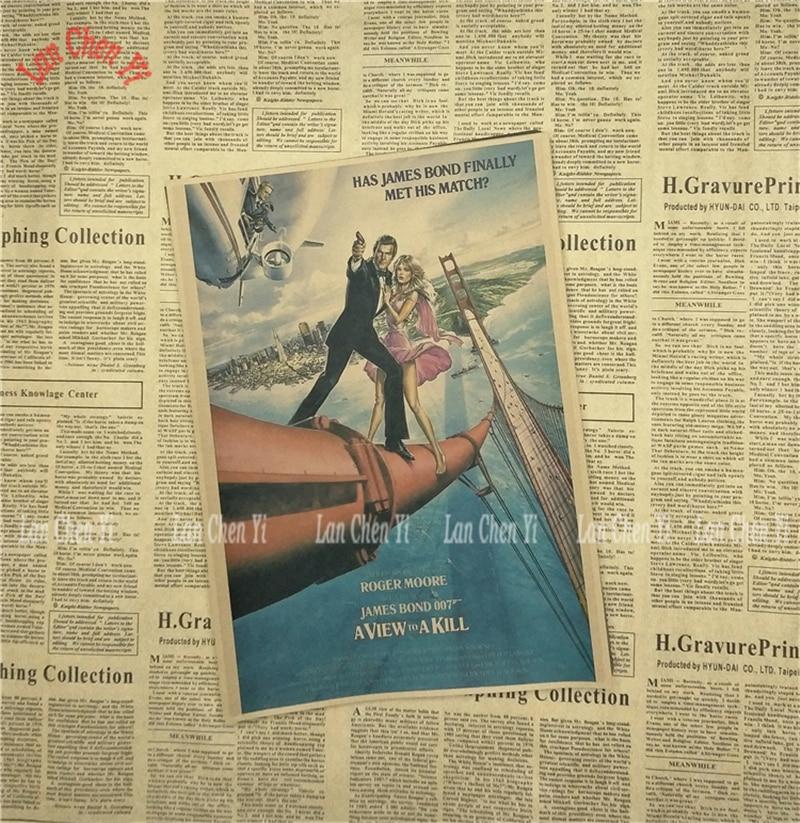 James Bond 007 Serie 1 Klassisk Film Kraftpapper Poster Vintage - Heminredning - Foto 2