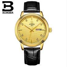 Switzerland Binger Original Men Quartz Watch Luminous Famous Brand Men Business Watch Waterproof Watches Clock Wristwatches