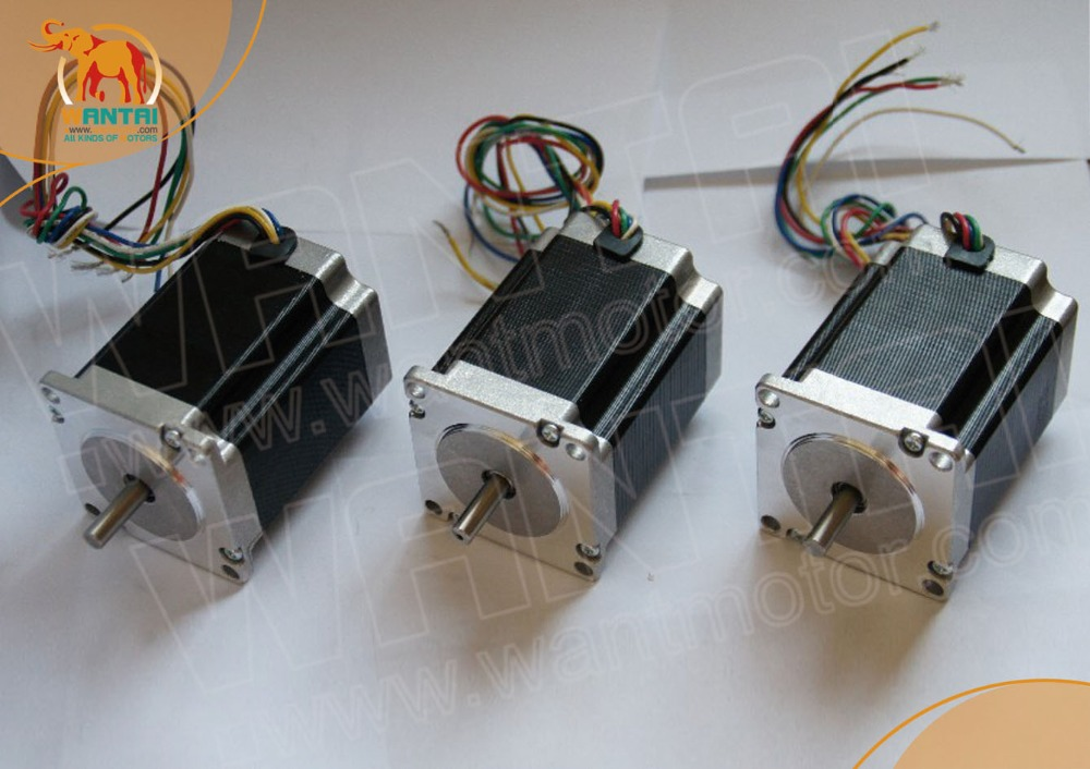 3PCS CNC Wantai Nema23 Stepper Motor 57BYGH218 0.9N.m 2A Single Shaft 130oz-in 51mm cnc engrave Milling Medical equipment3PCS CNC Wantai Nema23 Stepper Motor 57BYGH218 0.9N.m 2A Single Shaft 130oz-in 51mm cnc engrave Milling Medical equipment