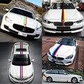 1 М Франция/Италия/Германия М-Цветная Полоса Автомобиль Капотом Наклейка Наклейка Для BMW M3 M5 M6 E46 E90 X3 X5 X6 3/5/7 Серии Для Audi VW