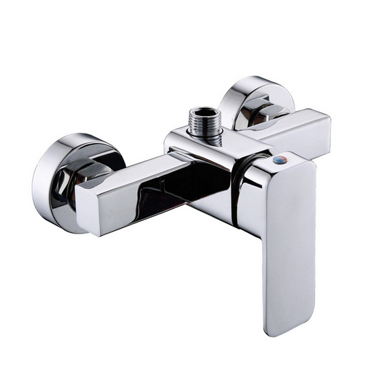Free Shipping Wall Mounted Shower Faucet With Solid Brass Shower Mixer Tap Of Hot Cold Bathroom Shower Faucet