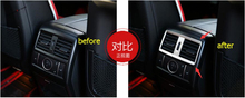 Yimaautotrims Matte Interior Refit For Mercedes-Benz GLE W166 2015 - 2019 Armrest Box Rear Air AC Vent Cover Trim Accessories yimaautotrims middle control gear shift multimedia cover trim interior mouldings fit for mercedes benz gle w166 2016 2017 2018