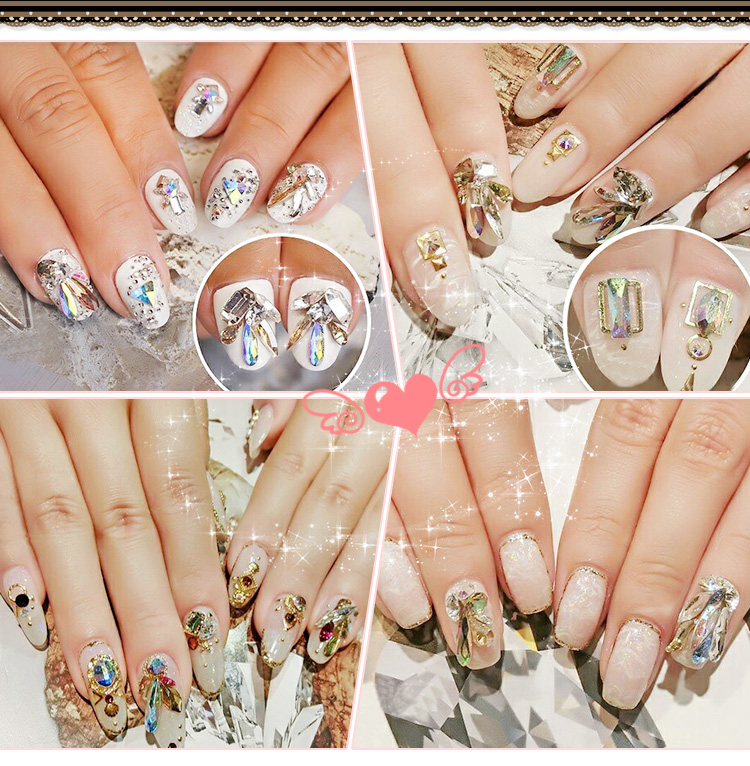 YANRUO 144pcs 4x6mm Crystal AB Rainbow Rhinestones Nail Art Crystal - Arte de uñas - foto 5