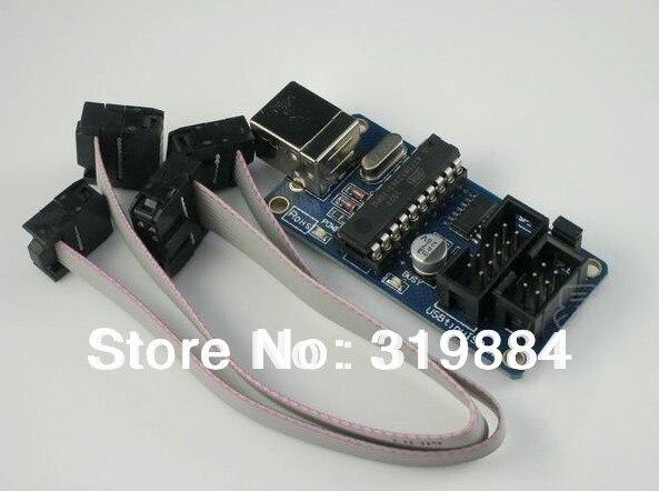 Бесплатная доставка 1x USBtinyISP v3.0 AVR ISP USB программатор для микроконтроллеров ожог загрузчик