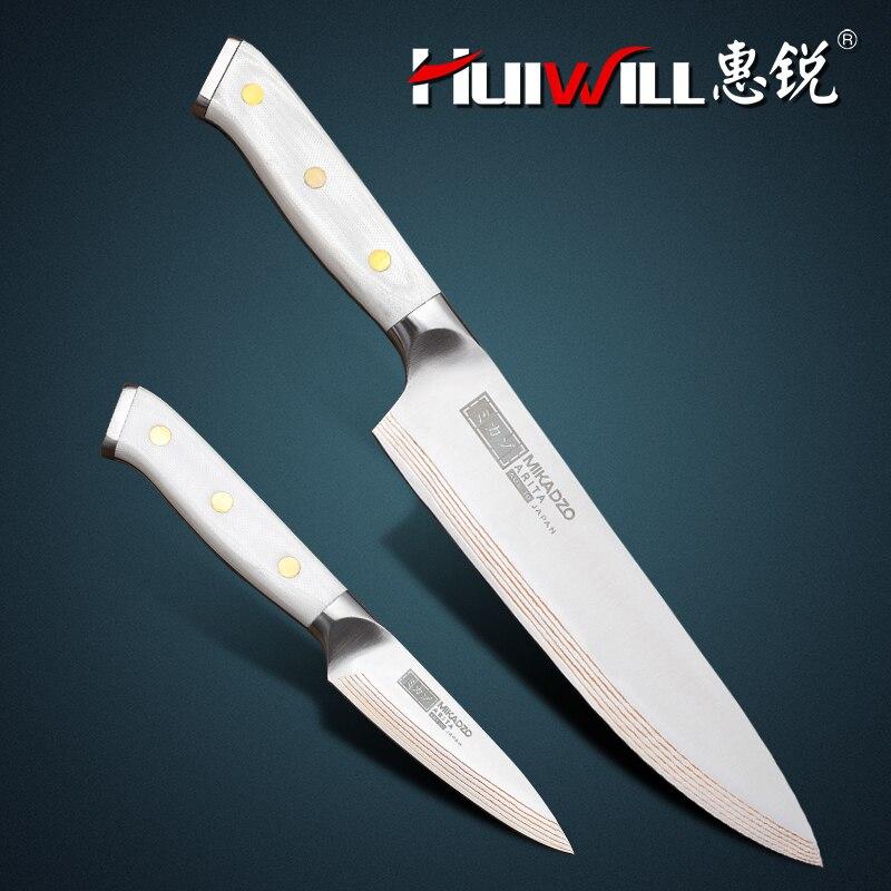 2019 haute qualité 21 couches japonais cuivre damas Chef couteau tranchage cuisine couteau ensemble