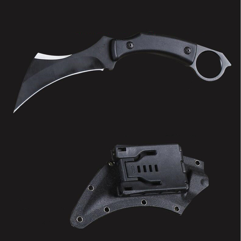 High Hardness Army Tactical Karambit Knife Outdoor Claw Machete Hunting Fixed Blade Knives Combat Survival Gear Camping EDC Tool 5