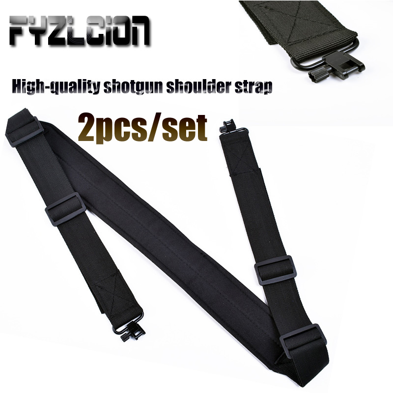 2pcs High Quality Hunting Gun Accessories Rifle Gun Sling Baldric Shooting Shotgun Belt Shoulder Strap w/ Swivels Adjustable-in Hunting Gun Accessories from Sports & Entertainment
