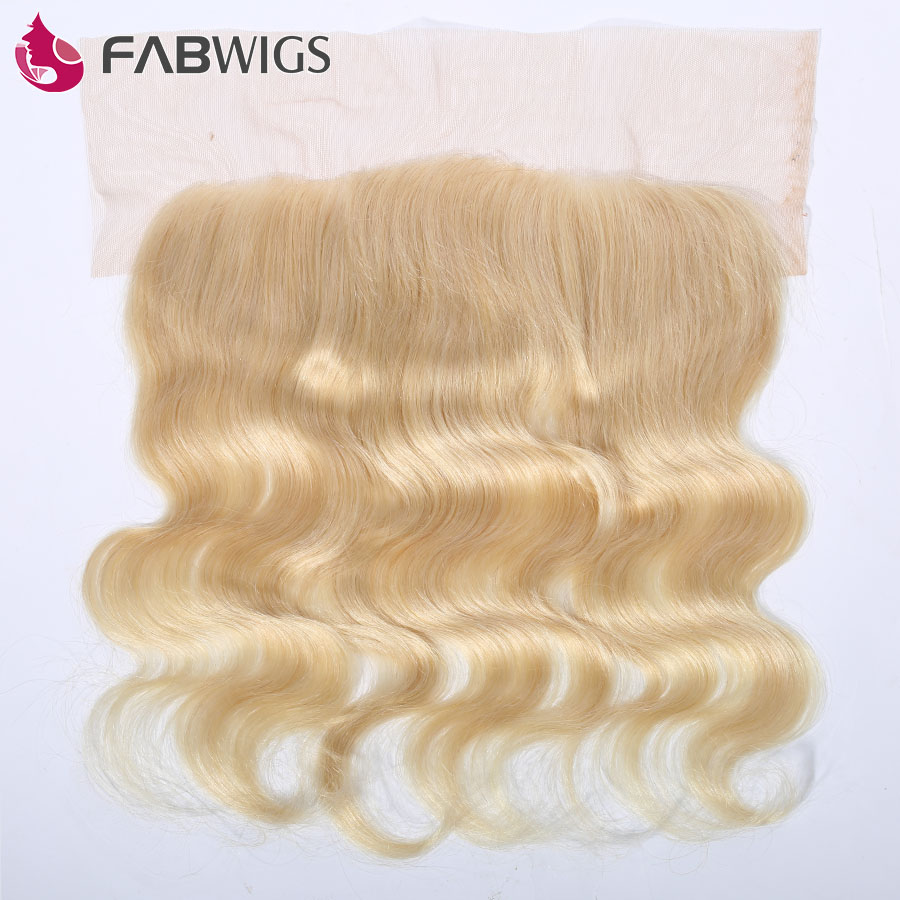 Fabwigs Brazilian Body Wave Lace Frontal Closure 13x4 613 Full Blonde Ear to Ear Lace Frontal