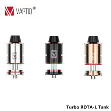 Original Vaptio Turbo RDTA-L Tank RDTA Vaporizer E Cigarette 25mm Diameter Rebuildable Tank RDTA Atomizer for 510 Box Mod  стоимость