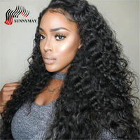 Sunnymay Full Lace Human Hair Wigs Malaysian Virgin Hair Loose Wave Pre Plucked Lace Wigs With Baby Hair For Black Women