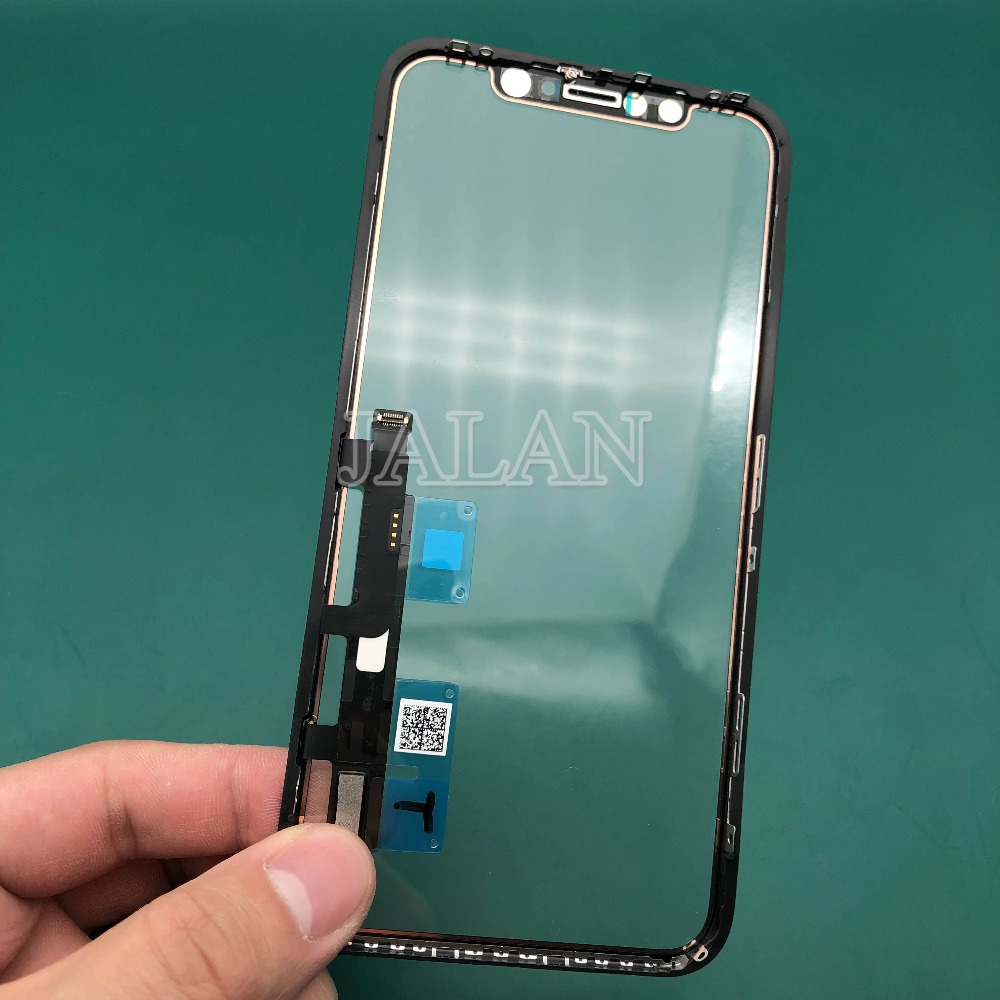 original new display screen For iPhone xr lcd touch screen front out glass panel with flex cable replacement LCD laminating