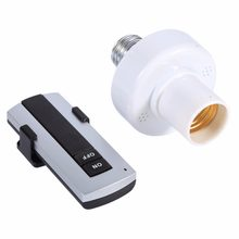 E27 Wireless Remote Control Light Lamp Holder Screw Bulb Holder Cap ON OFF Socket Switch 220V(China)