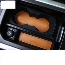 цена на lsrtw2017 fiber leather car door slot mat cup mat for range rover evoque 2011 2012 2013 2014 2015 2016 2017 2018 2019
