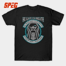 Odin He Gave Us Breath He Watches Us In Death Vikings T Shirt Men Short Sleeve 2017 New Trendy 100% Cotton Round Neck Tee Tops