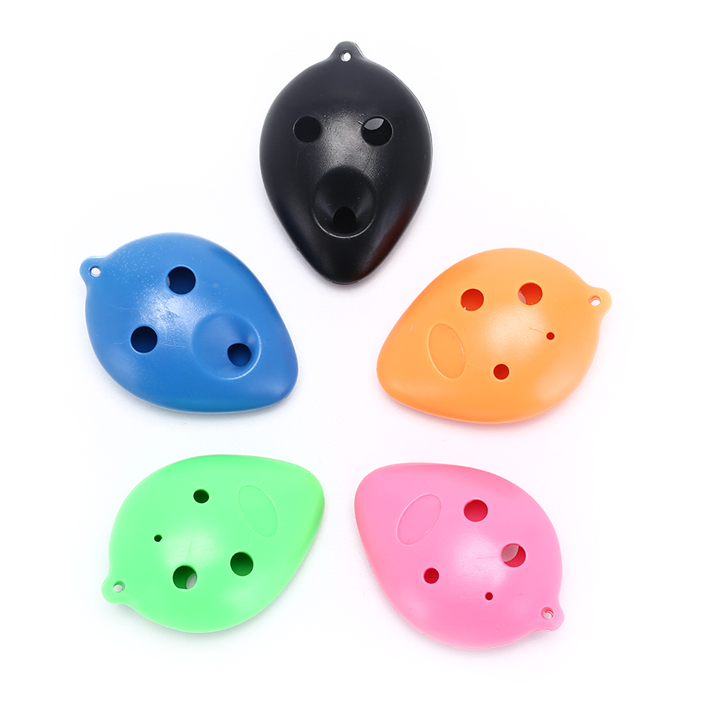 Coloful 6 Holes Plastic Treble C Ocarina For Beginner 6 Hole Ocarina