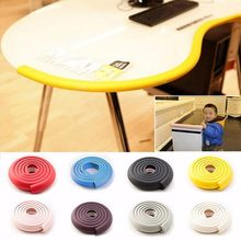 2m Baby Child Kids Table Desk Furniture Edge Corner Safety Guard Protection Security Protector Wide Cushion Pad Crash Bar Strip(China)