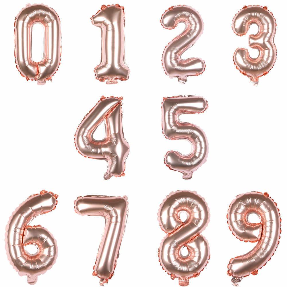 XXYYZZ 32 pulgadas globo de aluminio oro plata rojo globo de helio globo digital boda cumpleaños feliz globo Decoración