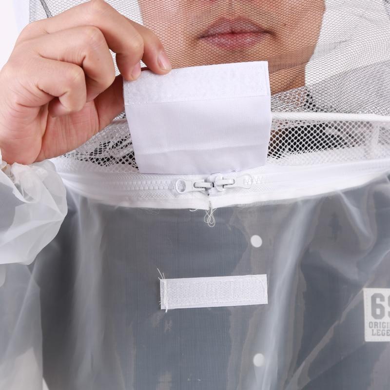Nylon Breathable Beekeeping Clothing Anti Bee Body Protective Coat Veil Hood Hat Suit Sleeve Head Beekeeping Preventing Comfort