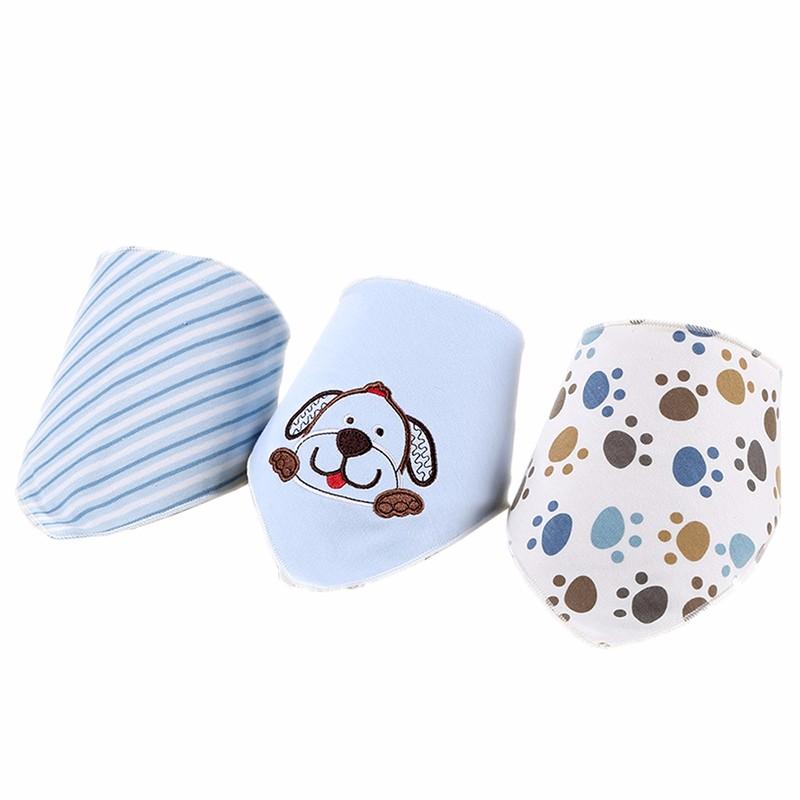 3pcsset Baby Bibs Cotton Bandana Bibs Newborn Baby Girls Boys Infant Babador Saliva Bavoir Towel baberos bebes Babadores WZ001 (1)