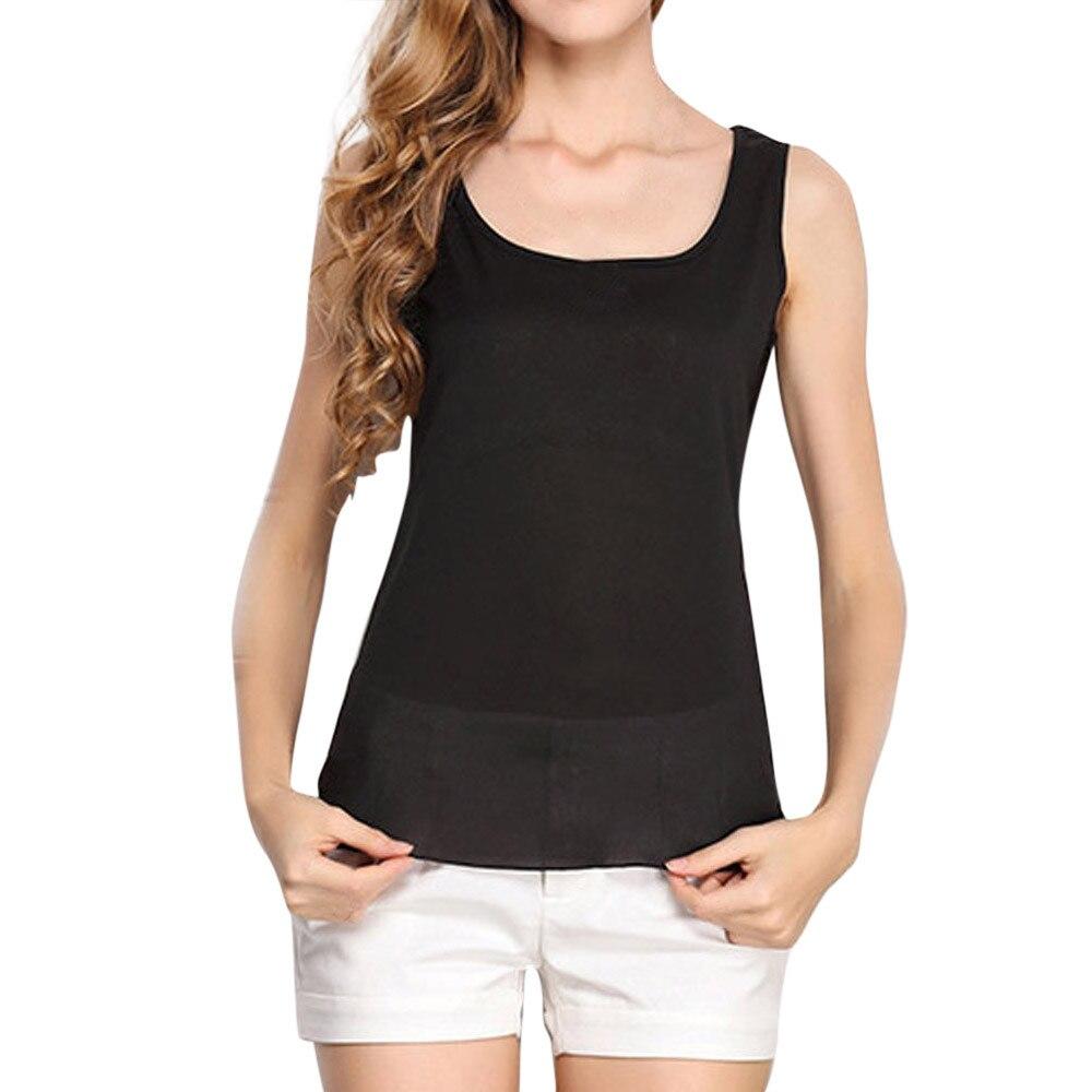 Feitong Women Tee Top Chiffon Blusas Femininas Tops Vest Summer Hot Sale Sexy Vest Fashion Camisole Sleeveless T-Shirt Tank Top