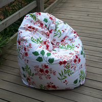 The Pastoral Flowers Style Bean Bag Chair Garden Camping Beanbags Covers Lazy Sofa Anywhere Portable Sitting