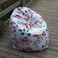 La Pastoral flores estilo silla del bolso de haba jardín Camping bolsas de frijoles cubiertas Lazy sofá cualquier portátil sentado cojín