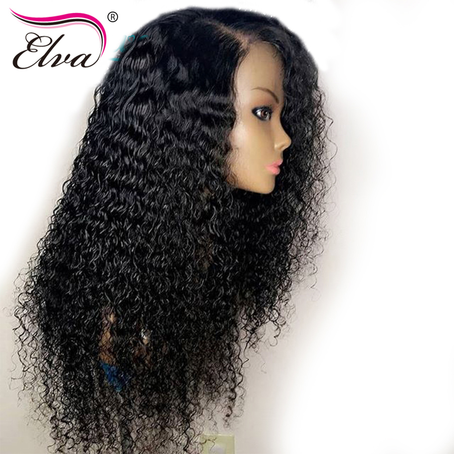 Lace Front Human Hair Wigs Curly Human Hair Wigs For Black Women Pre Plucked Baby Hair