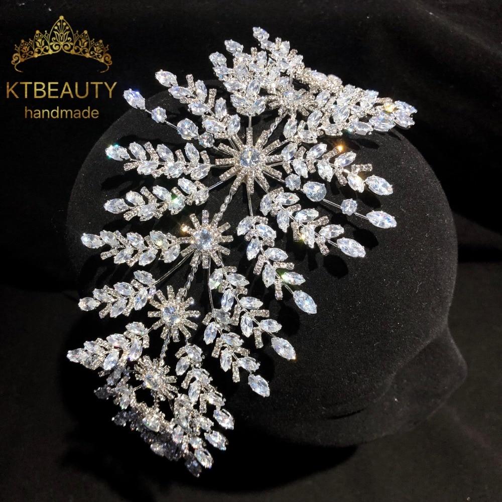 New Luxury Crystal Silver Zircon Crown Tiara Bigger Custom Made Rhinestones Royal Queen Princess Pageant Party