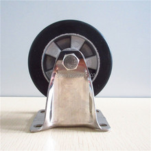 4 pcs hot 4 inch stainless steel casters caster rubber wheel with aluminum center caster fixed caster