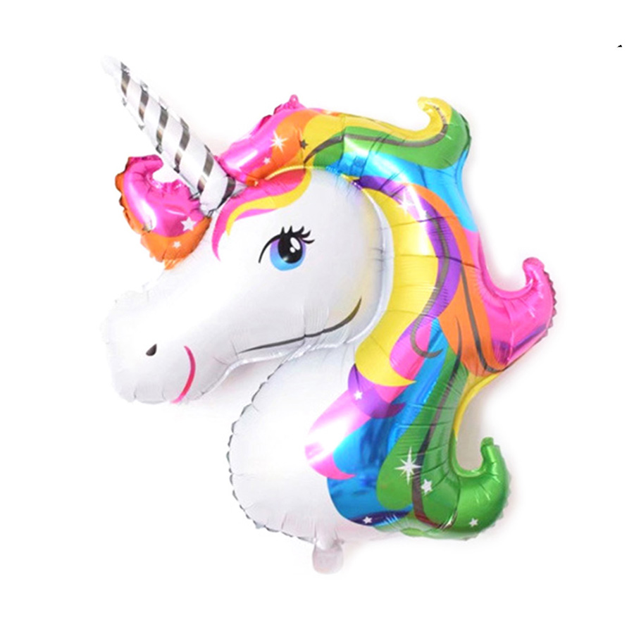 aliexpress com buy 1pcs 25 34cm cartoon unicorn balloon aluminum