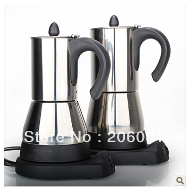Electric stainless steel syphon coffee maker/Automatic Electric vacuum coffee pot with high ...
